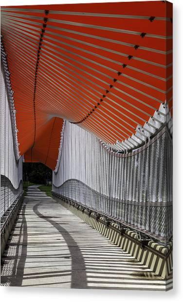 Undulating Orange Wave Canvas Print