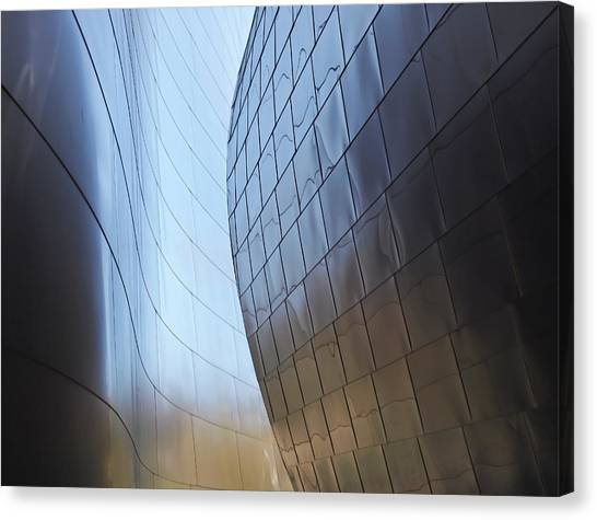 Undulating Steel Canvas Print