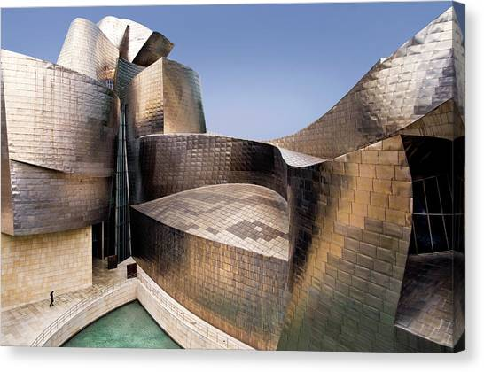 Modern Architecture Canvas Print - Undulation by Linda Wride