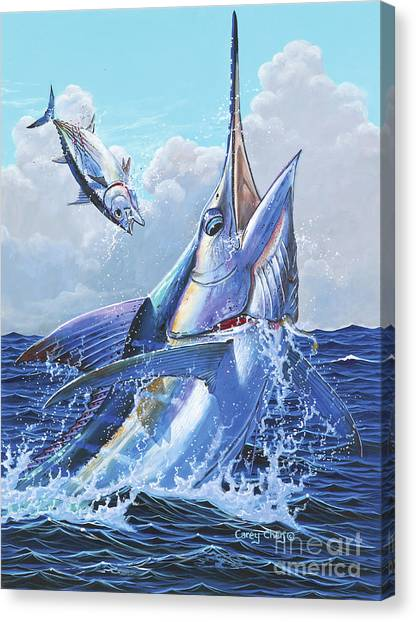 Sharks Canvas Print - Unexpected Off0093 by Carey Chen