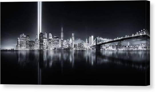 Panorama Canvas Print - Unforgettable 9-11 by Javier De La