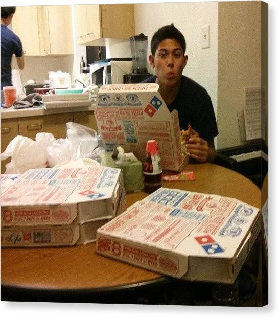 Ucsd Canvas Print - Unhealthiest Week Ever. #pizza by Anthony Wang
