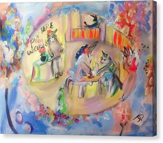 Unicorn Cafe Canvas Print