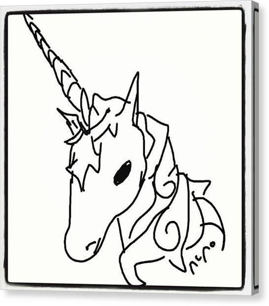 Unicorns Canvas Print - #unicorn #cartoon #draws #sketch #paint by Nuno Marques