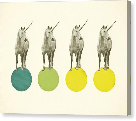 Unicorns Canvas Print - Unicorn Parade by Cassia Beck