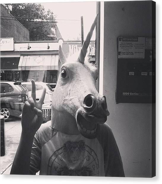 Unicorns Canvas Print - #unicorn #springbreak5ever by Anastasia Lillpopp