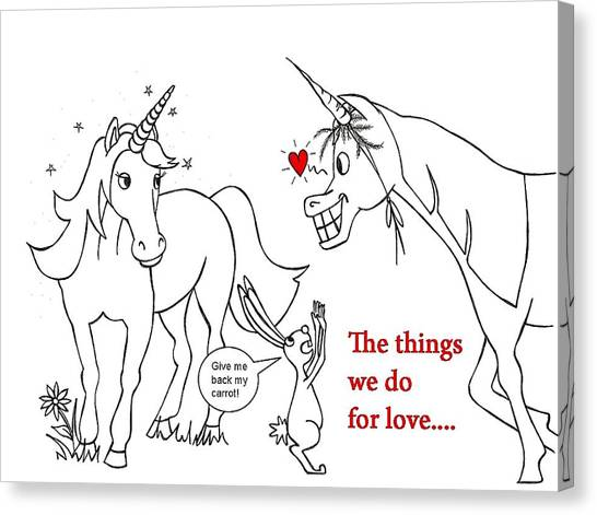 funny horses canvas prints page 4 of 26 fine art america 1 Ton Jeep funny horses canvas print unicorn valentines card by konni jensen