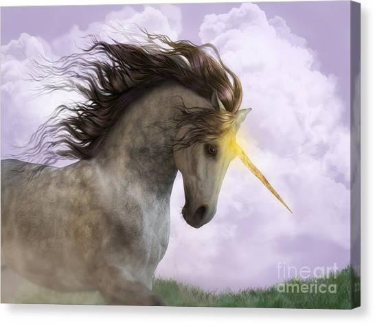 Unicorn With Magic Horn Canvas Print