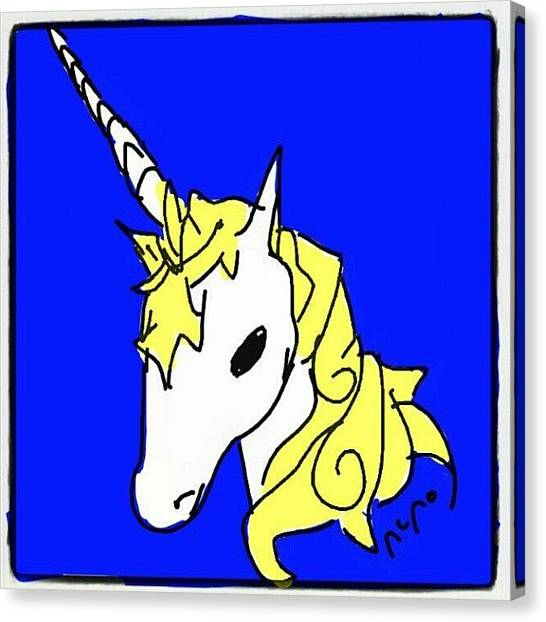 Unicorns Canvas Print - #unicornds #cartoon #unicorn #sketch by Nuno Marques