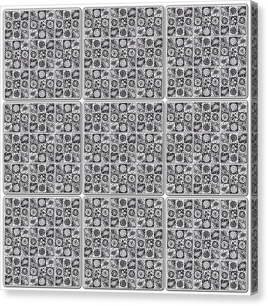 Spiral Canvas Print - unidentified Diatoms 0010 #drawing by Daniel Icaza