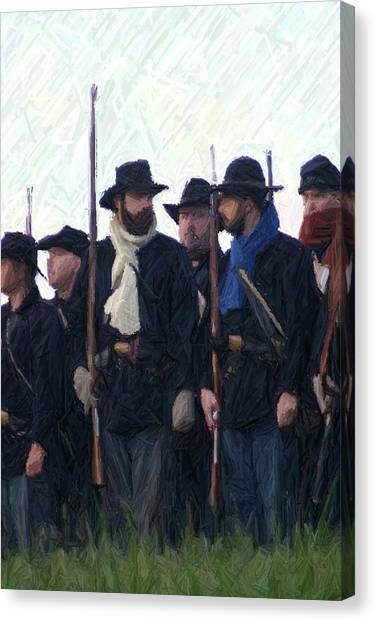 Us Civil War Canvas Print - Union Colors - Perryville Ky by Thia Stover