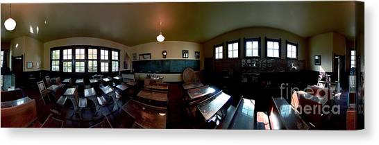 Union  Illinois One Room School House Canvas Print