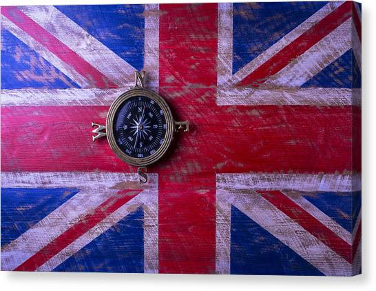 Gay Flag Canvas Print - Union Jack And Compass by Garry Gay