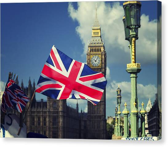Union Jack In London Canvas Print