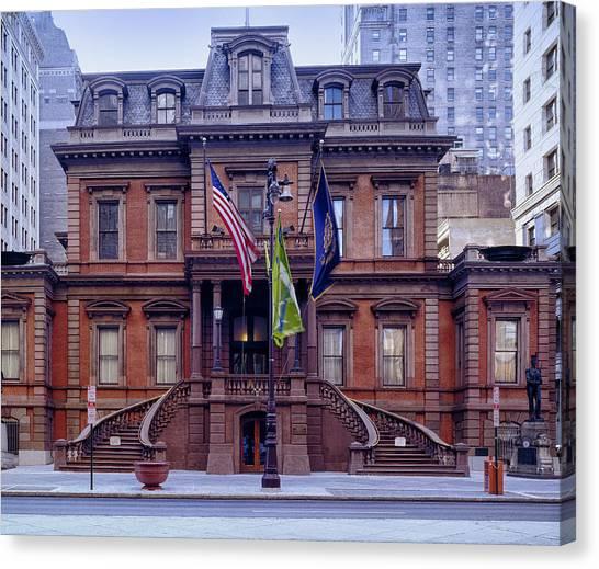 Philadelphia Union Canvas Print - Union League Building In Philadelphia by Mountain Dreams