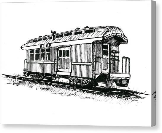 Train Canvas Print - Union Pacific Combine Car by Sam Sidders