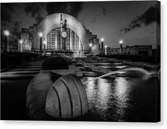 Union Terminal At Night Canvas Print