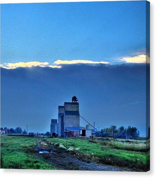 Hailstorms Canvas Print - #unique #cloud  #ig_sunsetshots by Chris Hendrickson