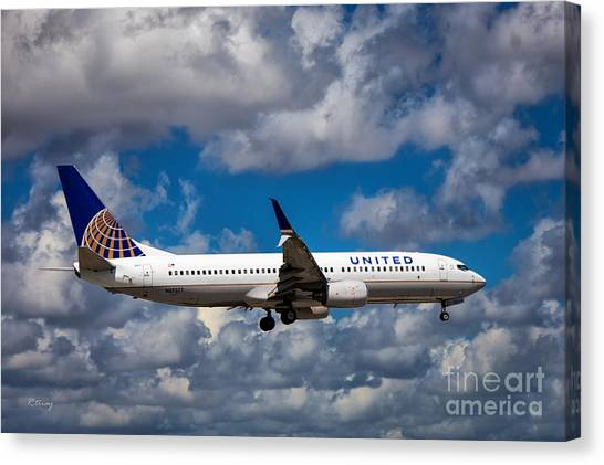 United Airlines Boeing 737 Ng Canvas Print