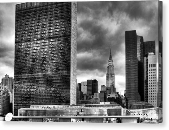 United Nations And Chrysler Building Canvas Print