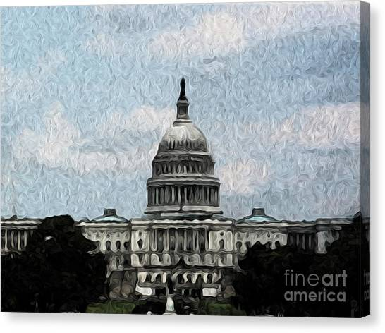 United State Capitol Canvas Print