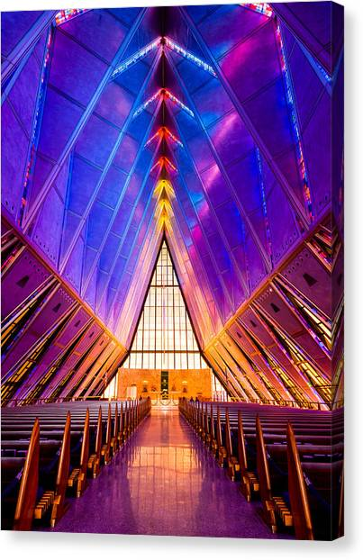 United States Air Force Academy Protestant Cadet Chapel Canvas Print