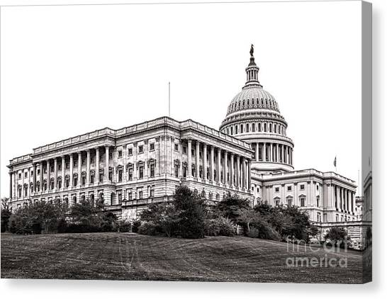D.c. United Canvas Print - United States Capitol Senate Wing by Olivier Le Queinec