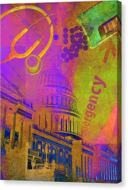 Obamacare Canvas Print - United States Government And Healthcare by Ikon Ikon Images