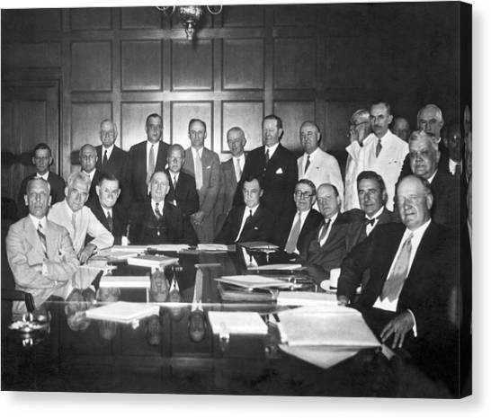 Nra Canvas Print - United States Industry Leaders by Underwood Archives