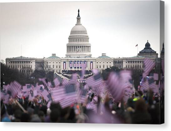 United States Of America Canvas Print - United States Presidential Inauguration by Adam Shaw