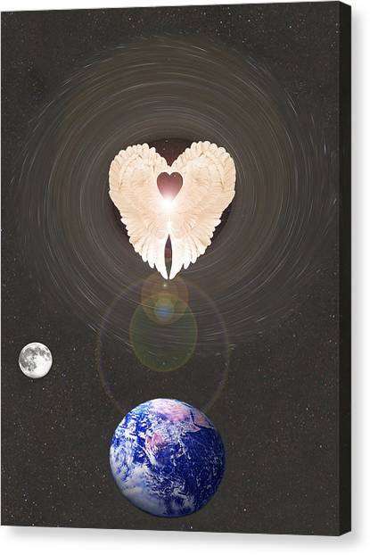 Canvas Print featuring the photograph Universal Angel by Eric Kempson