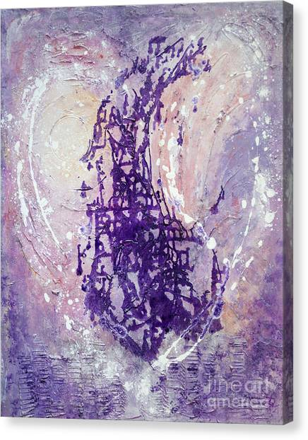 Universal Love Pastel Purple Lilac Abstract By Chakramoon Canvas Print by Belinda Capol