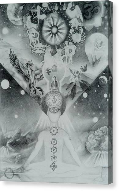 Rebirth Canvas Print - Universal Self-reflective Curiousity by Alec Falle Hamilton