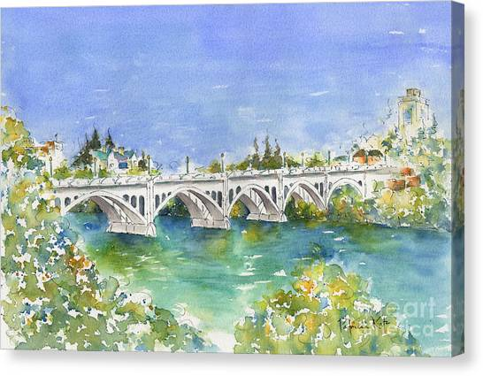 Saskatchewan Canvas Print - University Bridge by Pat Katz