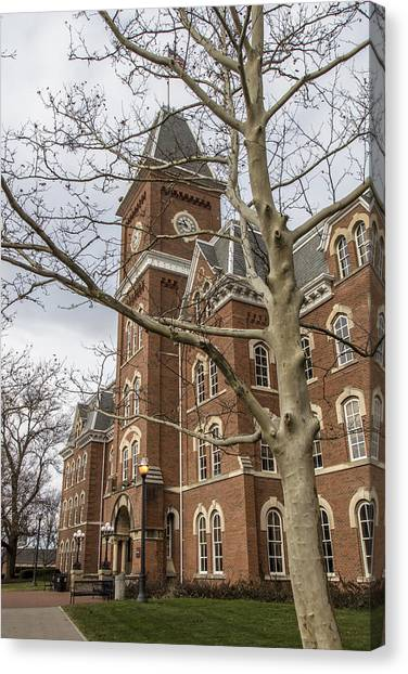Ohio State University Canvas Print - University Hall In Color Osu by John McGraw