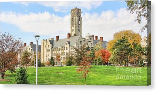 University Of Toledo Canvas Print - University Hall by Jack Schultz