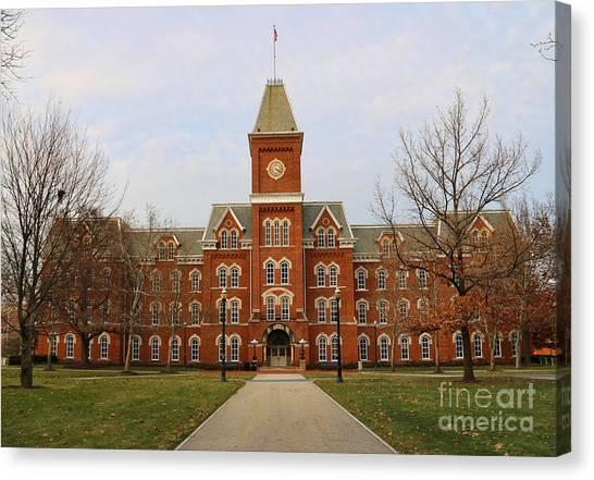 Ohio State University Canvas Print - University Hall Ohio State University 1680 by Jack Schultz