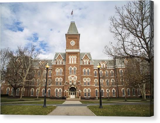 Ohio State University Canvas Print - University Hall Ohio State University  by John McGraw