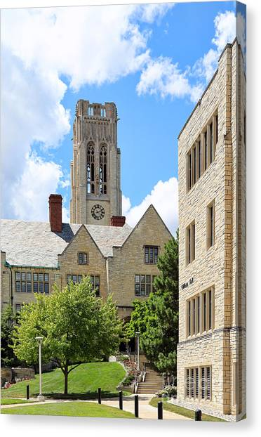 University Of Toledo Canvas Print - University Hall University Of Toledo 1586 by Jack Schultz