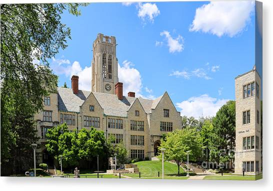 University Of Toledo Canvas Print - University Hall University Of Toledo 1588 by Jack Schultz