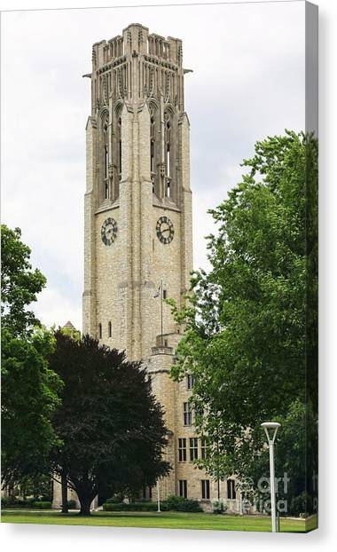 University Of Toledo Canvas Print - University Hall University Of Toledo 1615 by Jack Schultz