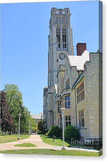 University Of Toledo Canvas Print - University Hall University Of Toledo 2208 by Jack Schultz