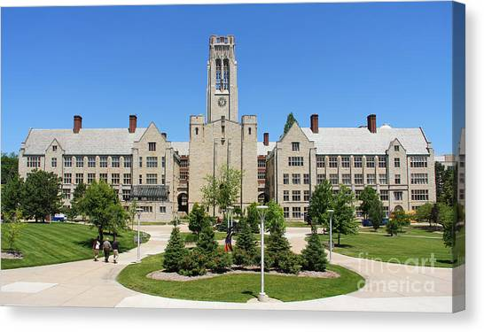 University Of Toledo Canvas Print - University Hall University Of Toledo 2210 by Jack Schultz