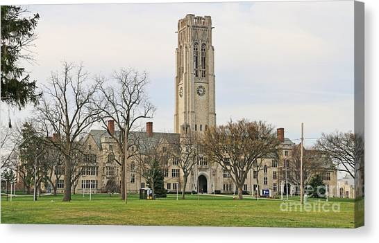 University Of Toledo Canvas Print - University Hall University Of Toledo 5038 by Jack Schultz