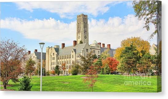 University Of Toledo Canvas Print - University Hall University Of Toledo 9206 by Jack Schultz