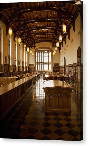 Big Xii Canvas Print - University Library by Andrew Soundarajan