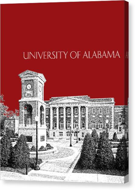 Conference Usa Canvas Print - University Of Alabama #2 - Dark Red by DB Artist