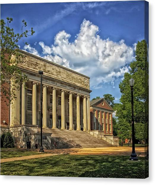 Conference Usa Canvas Print - University Of Alabama Library by Mountain Dreams