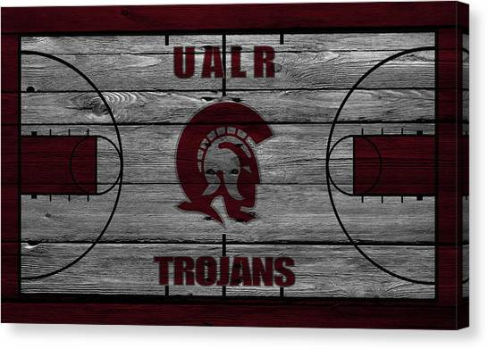 University Of Arkansas University Of Arkansas Canvas Print - University Of Arkansas At Little Rock Trojans by Joe Hamilton