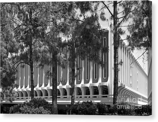 Uc Irvine Canvas Print - University Of California Irvine Langson Library by University Icons